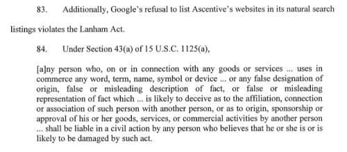 Paragraph 83 Ascentive, LLC v. Google, Inc.